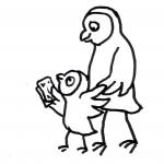 Eule Finanzierung Kinder - Piktogramm für nicht Lesende
