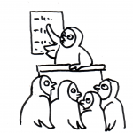Eulen in der Fortbildung - Piktogramm für nicht Lesende
